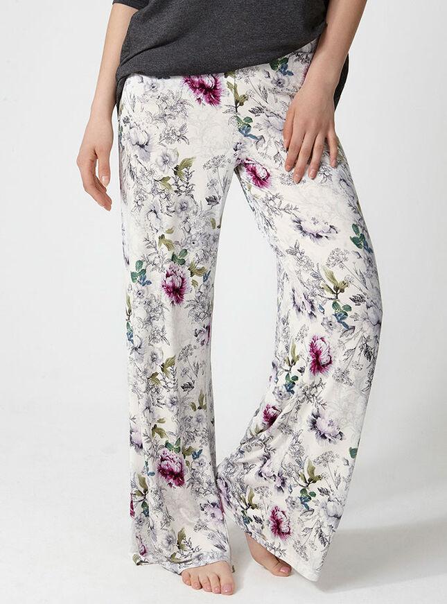 Botanical floral palazzo pants