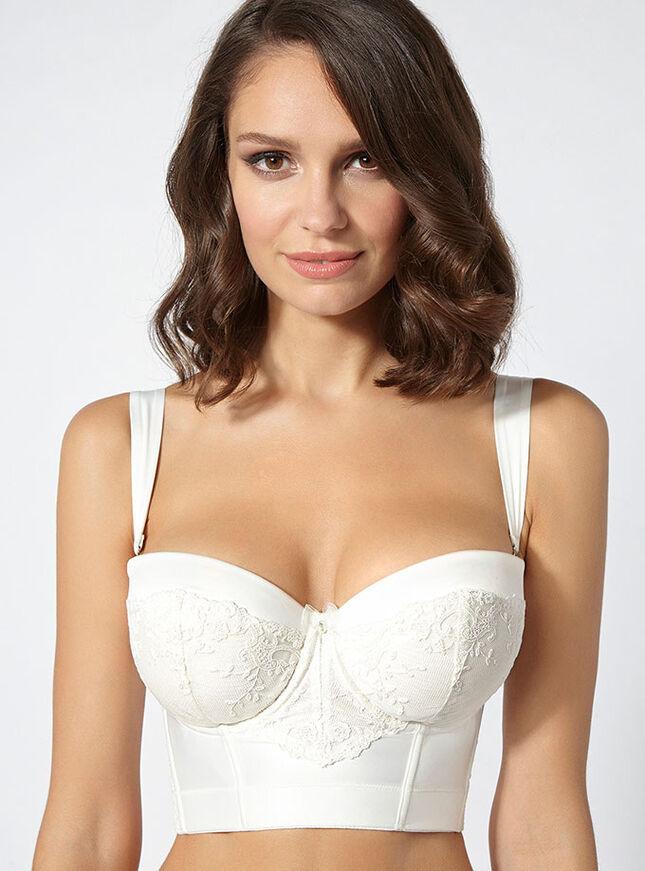 Angelina satin longline bra