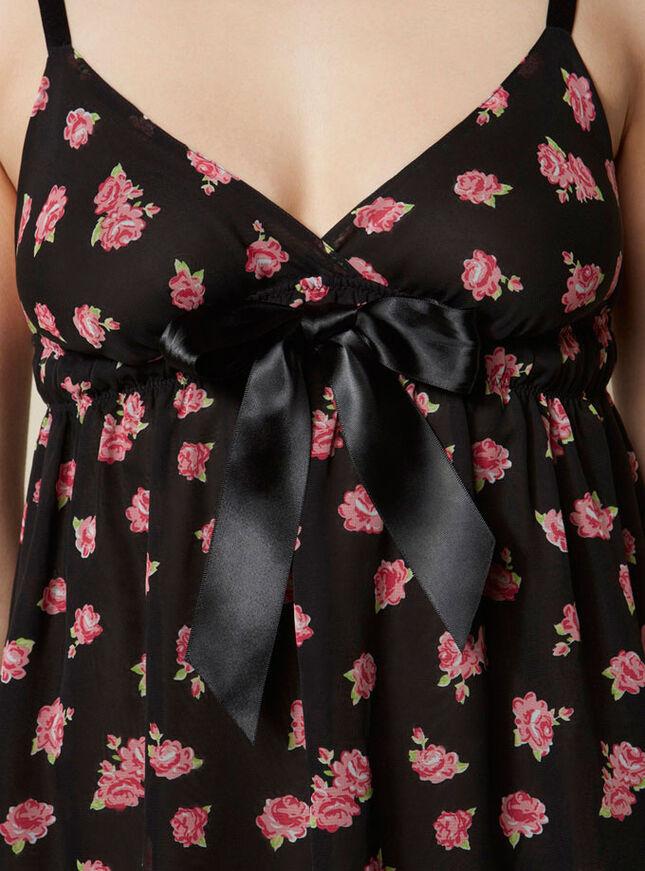 Rosalie rose print chemise
