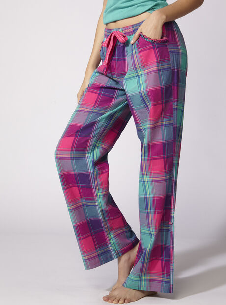 Jewel bright check pants