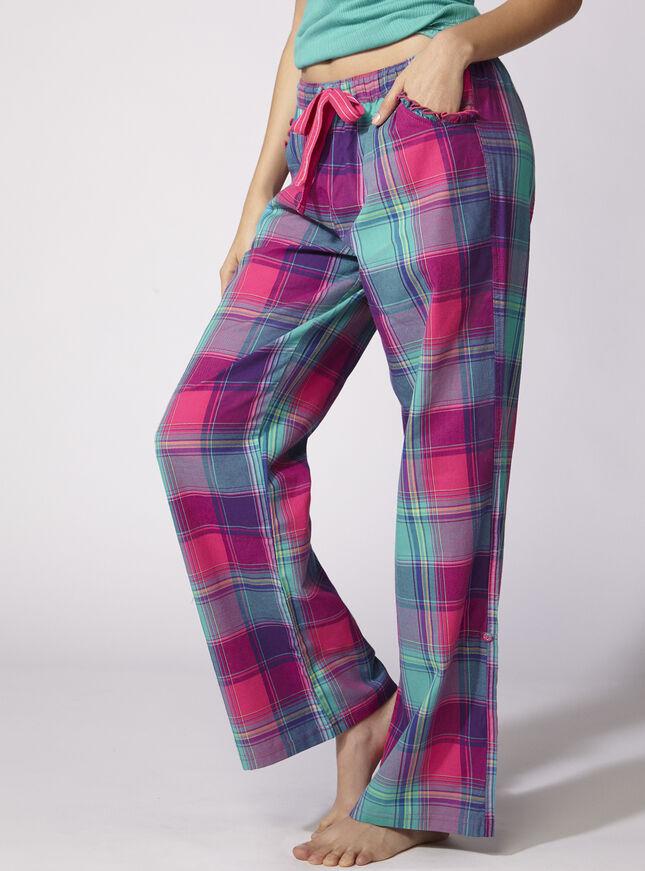 Jewel bright check pants