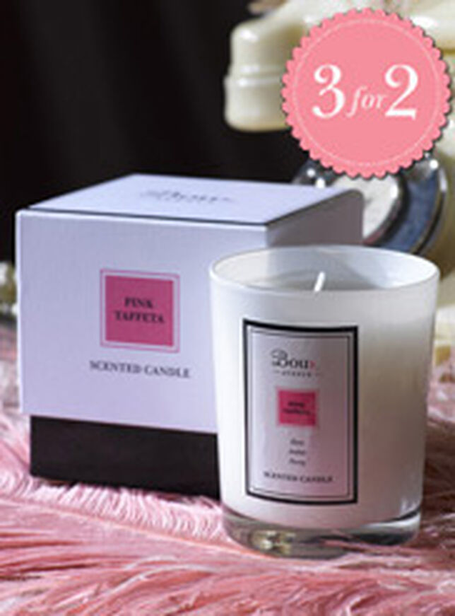 Pink Taffeta Single Candle