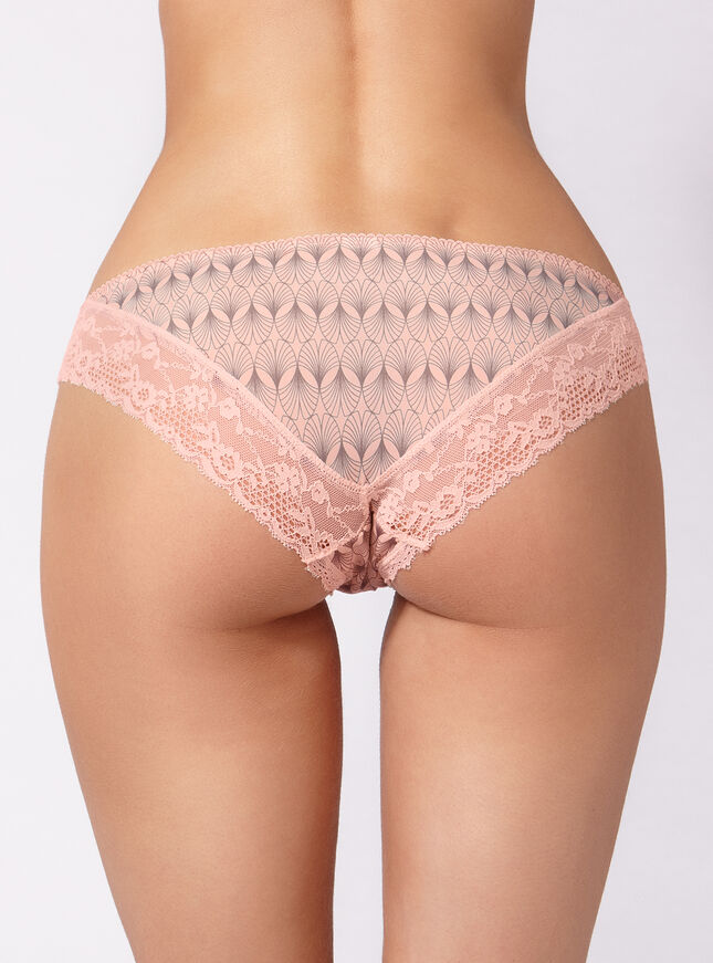 Art deco microfibre briefs