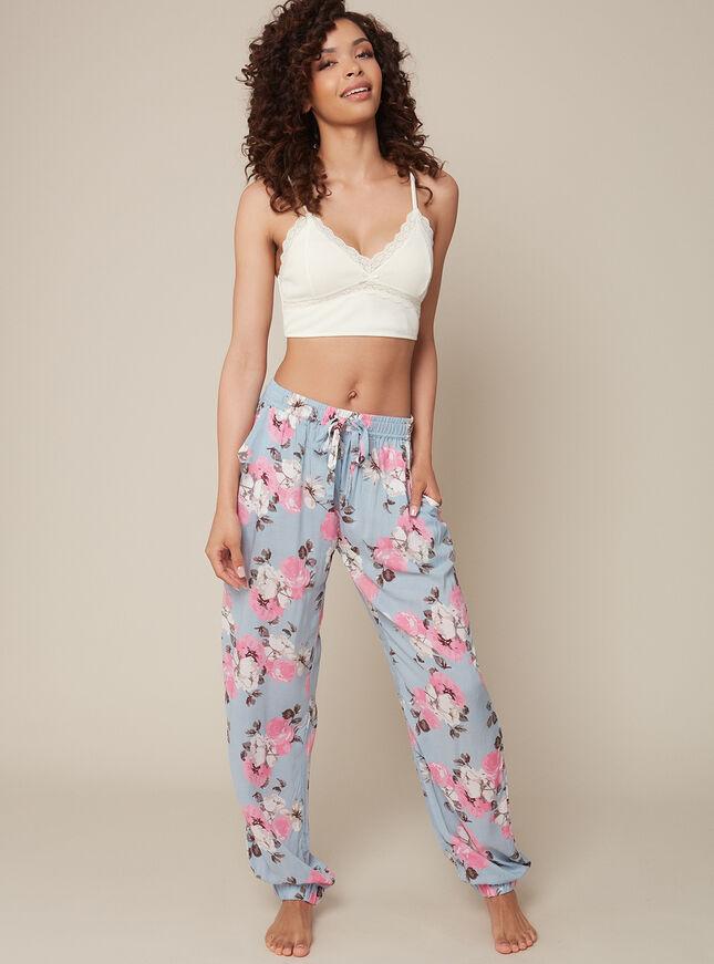 Floral pyjama joggers