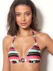 Marrakech stripe triangle bikini top