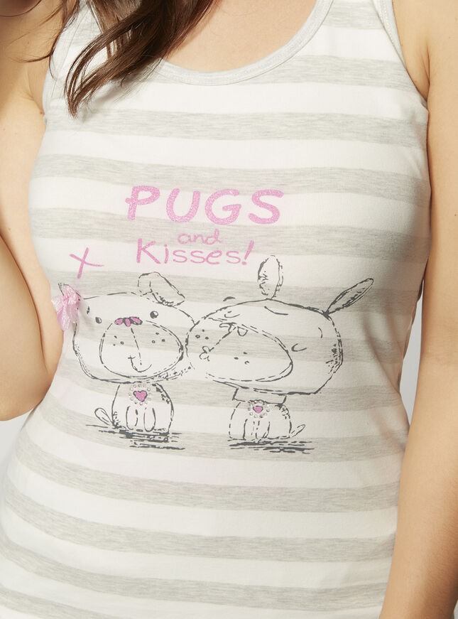 """Pugs and kisses"" pyjama set"