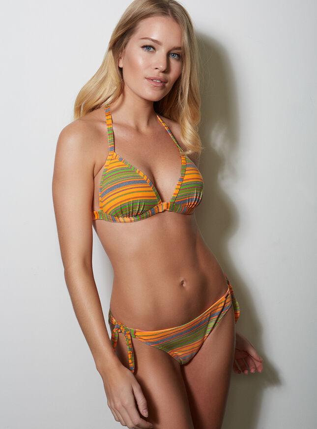 Stripe bikini briefs