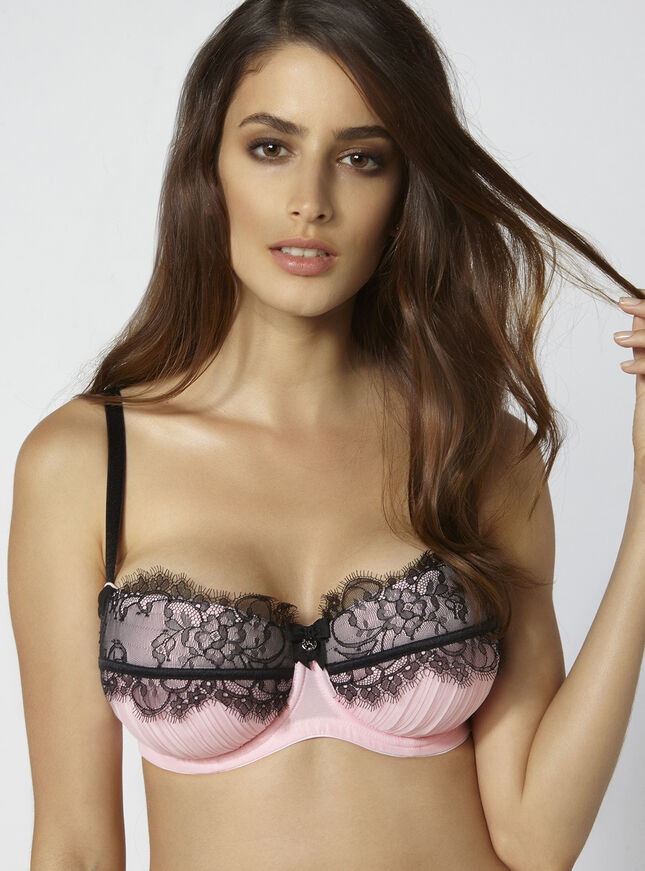 Janie pleated balconette bra