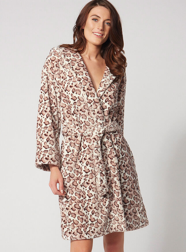Cheetah midi robe