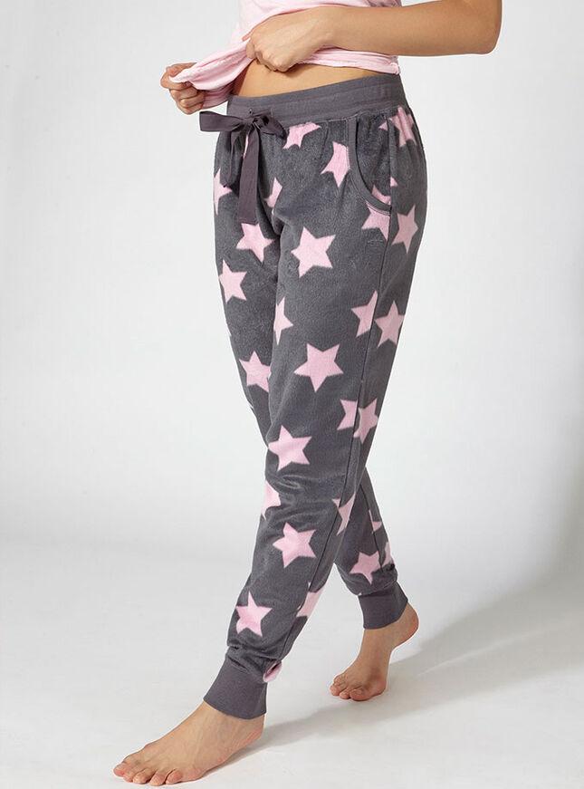 Minky star fleece pants