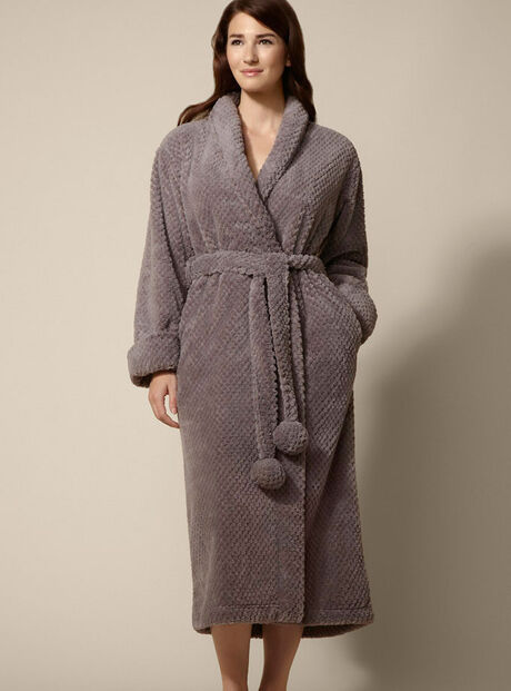 Lydia waffle robe