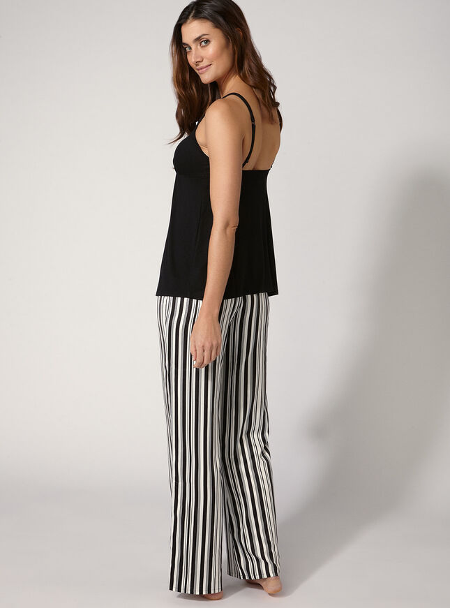 Karina stripe cami and pants set