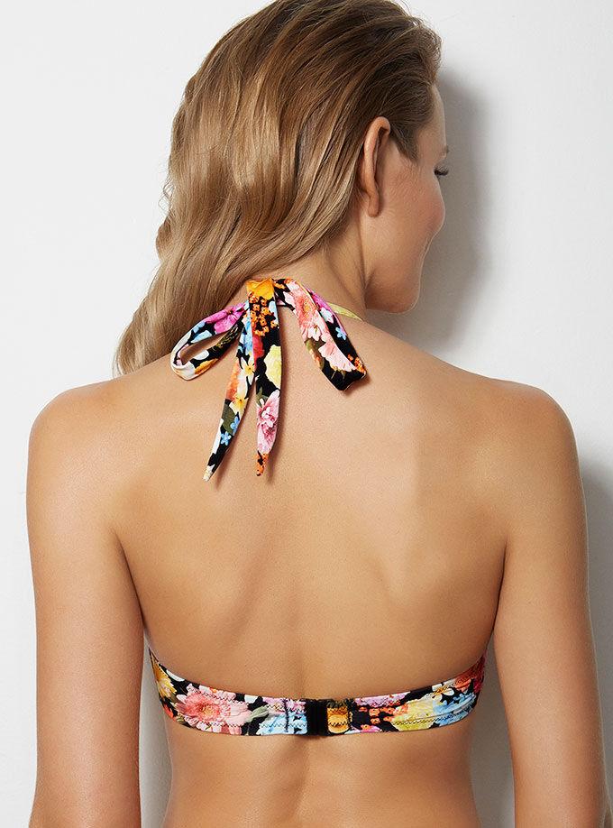 14367795c22 Milano Floral Bikini Top - Black Mix   Boux Avenue