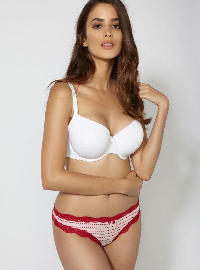 Tatiana heart stripe thong