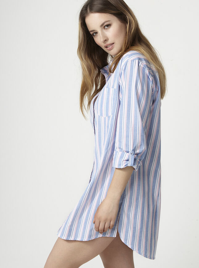 Multi stripe nightshirt