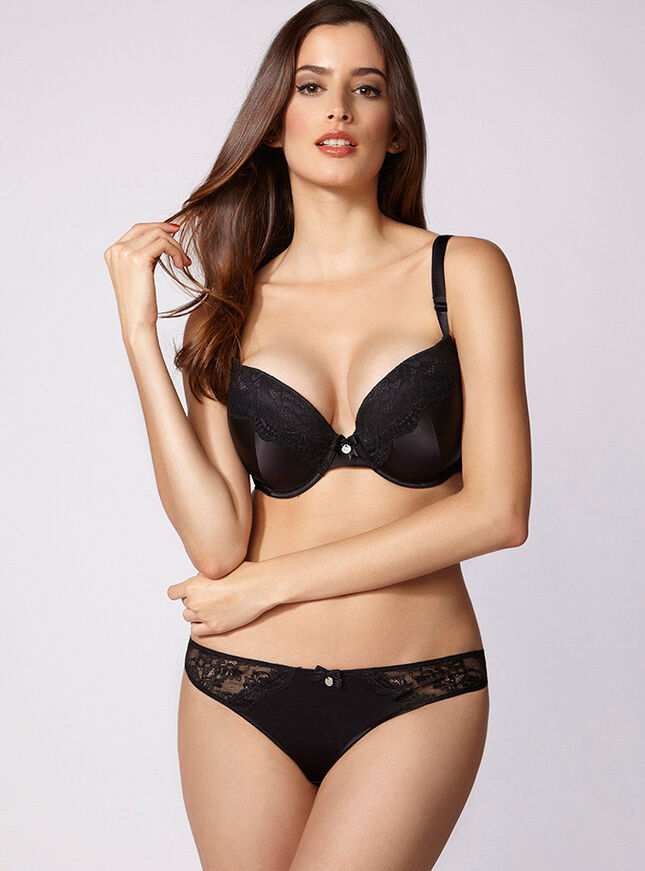 Josceline full support satin plunge bra