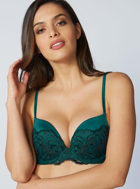 Eliza padded plunge bra