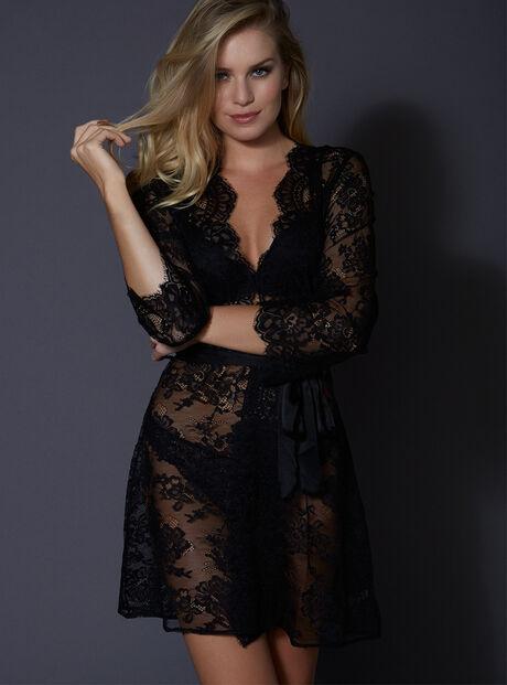 Latisha lace robe