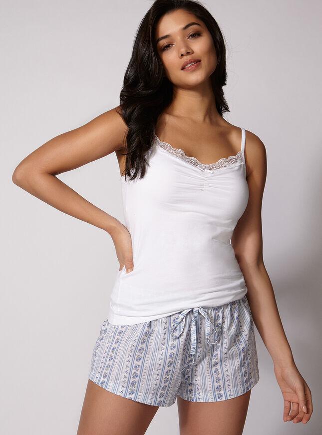 Rosebud stripe pyjama set