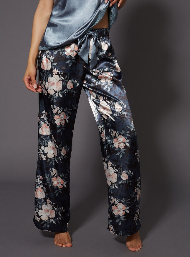 Vintage floral printed pants