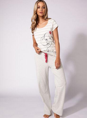 Glitter elephant tee and pants set