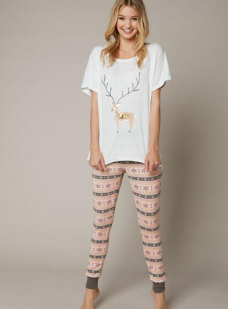 Deer tee and leggings set