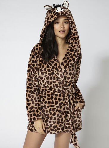 Gini giraffe hooded robe