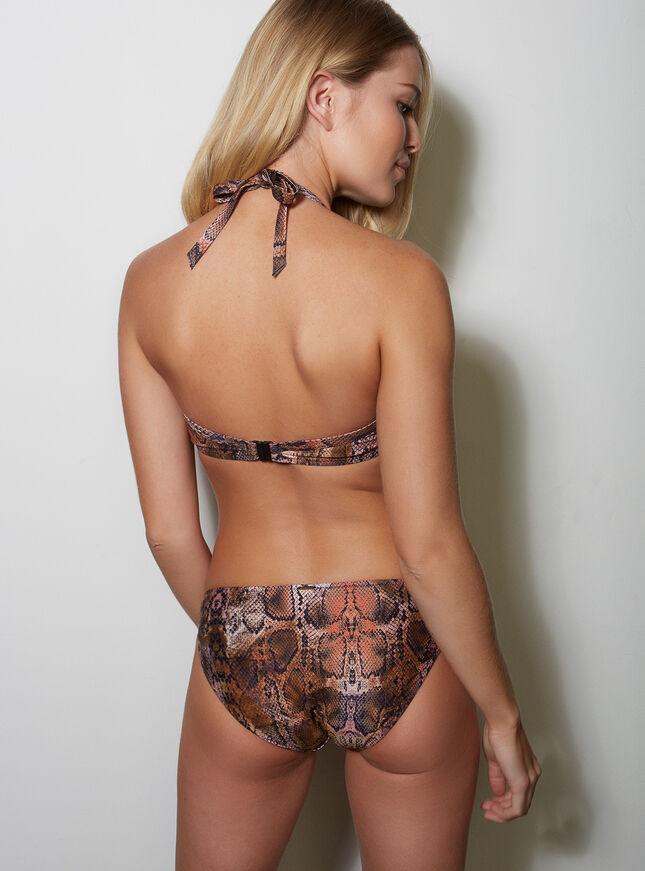 Snake print bikini briefs