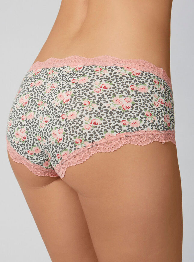 Tatiana animal rose shorts