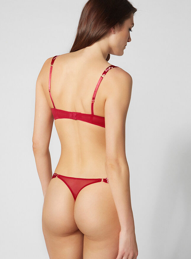 Amber blossom thong