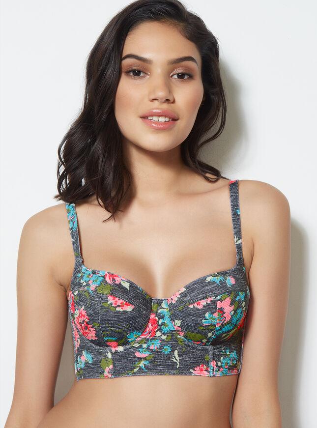 Bondi longline bikini top