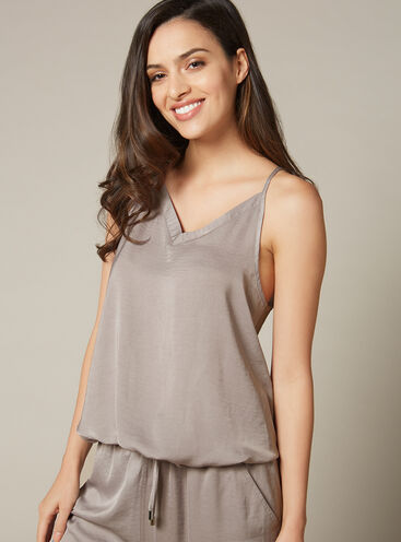Hammered satin camisole