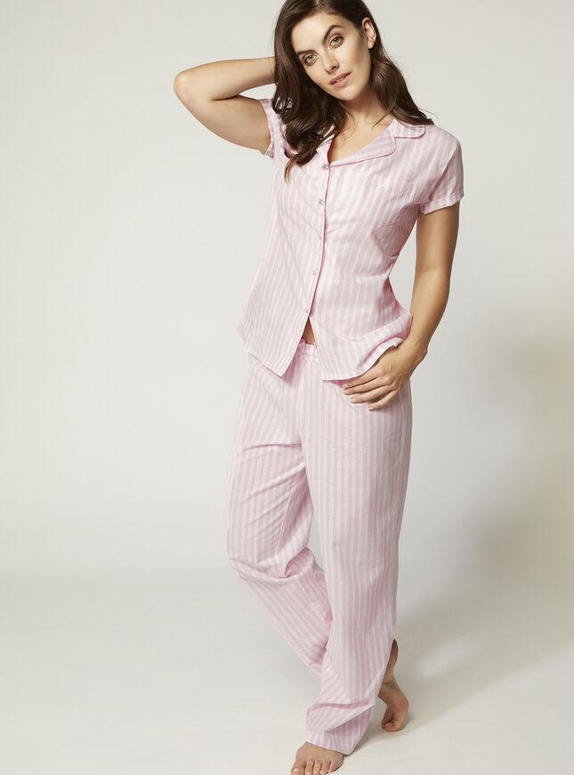 Candy stripe pyjama set