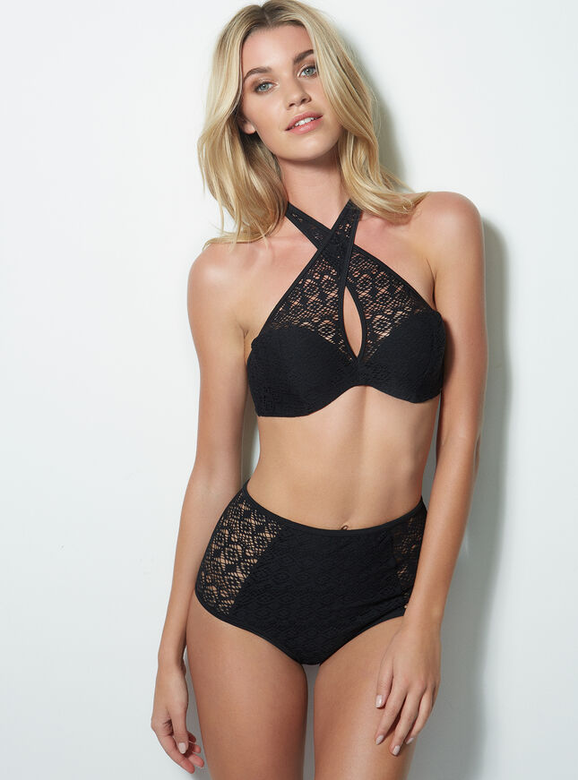 Bonaire crochet high waisted bikini briefs