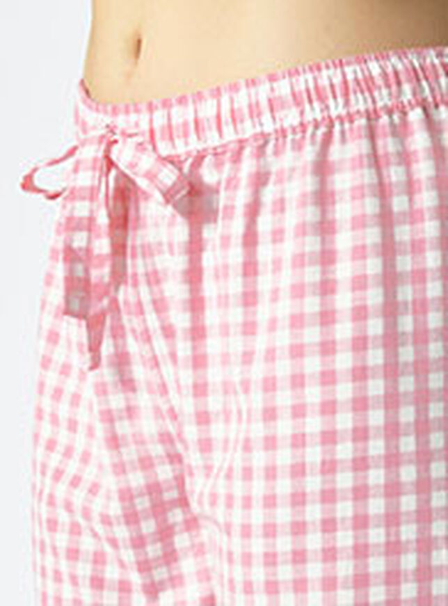 Hamptons gingham pyjama set