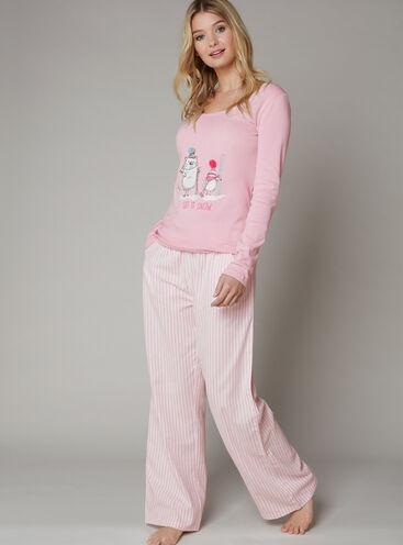 Ski scene pyjama set