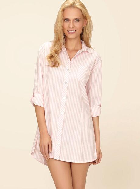 Romance classic striped nightshirt