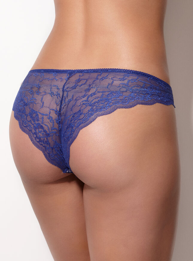 Folk floral lace back briefs