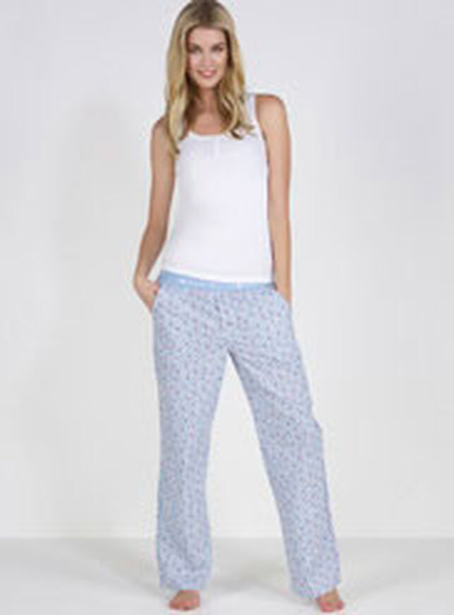 Boux ditsy floral and striped pyjama pants