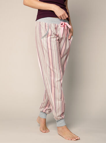Multi stripe cuffed pants