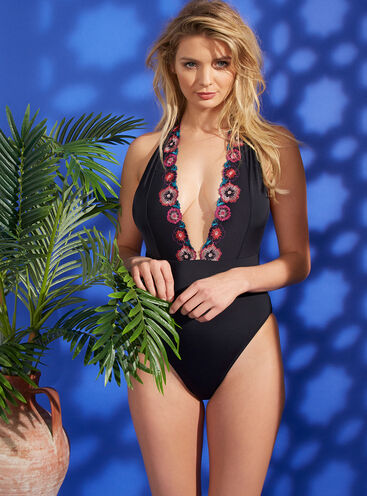 Porto embroidered swimsuit