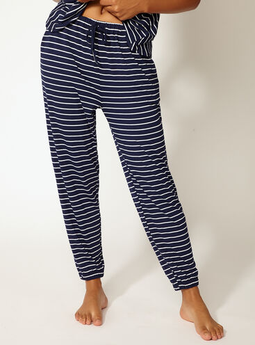 Jess stripe cuffed pants