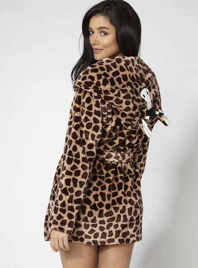 Gini giraffe hooded robe