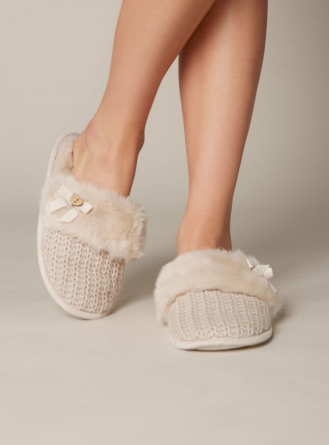 Evelyn knit mules
