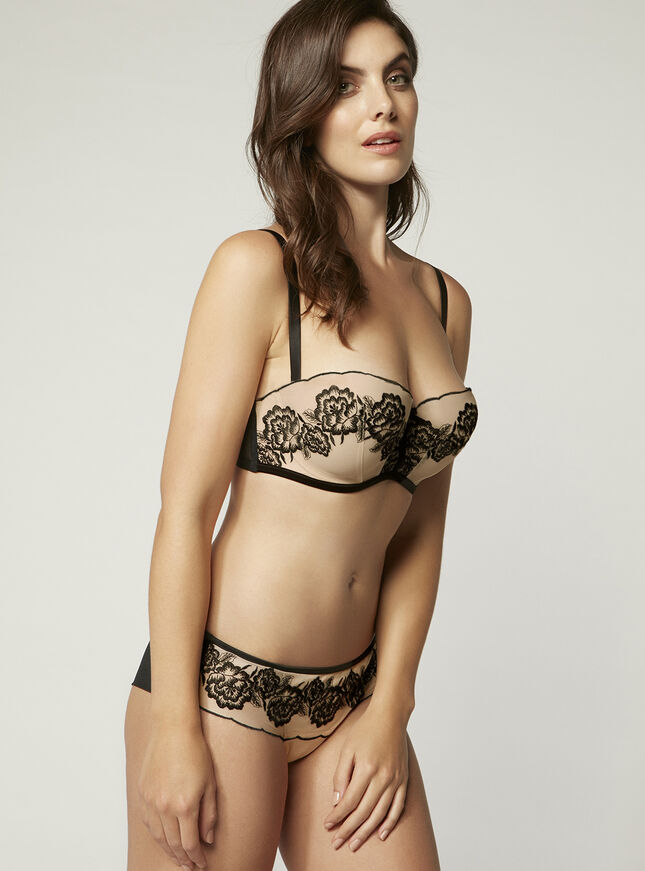 Jennifer embroidered balconette bra