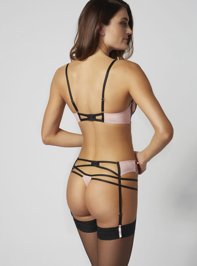 Mariette microfibre suspender belt