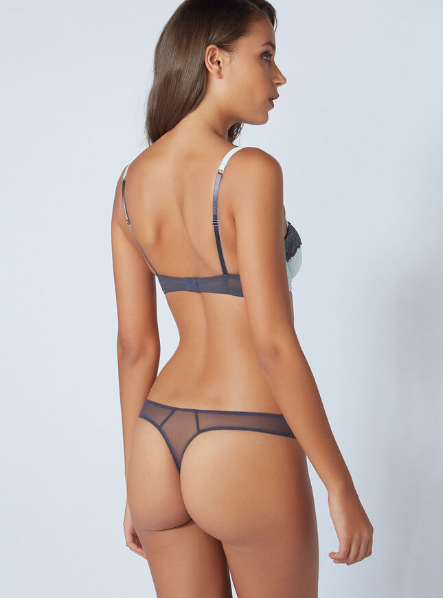 Saskia satin thong