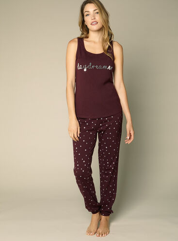 """Daydreamer"" vest and pants pyjama set"