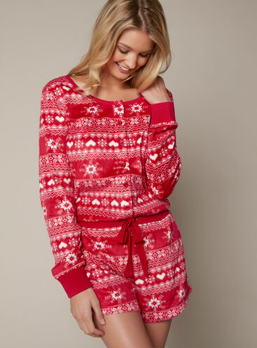 Fairisle minky playsuit