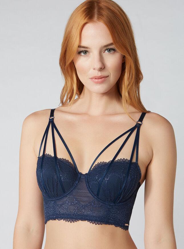 Whitney strappy longline bra